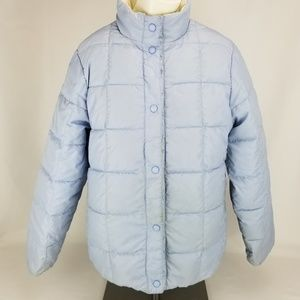 LL BEAN Goose Down Puffer WINTER JACKET REVERSIBLE